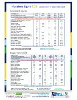 Horaire Ligne 105 – sept 2020
